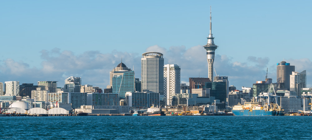Sky Tower the iconic landmark of Auckland New Zealand