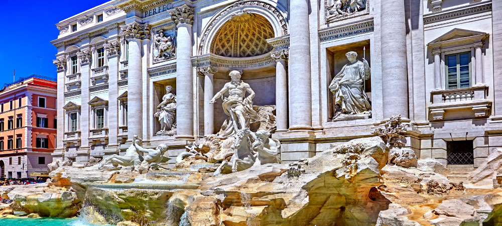 Rome Trevi Fountain Fontana Europe Tours