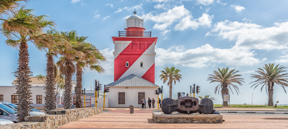 The Green Point Lighthouse at Mouille Point in Cape Town