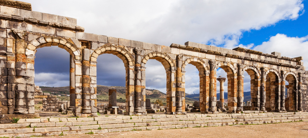 Volubilis near Meknes in Morocco